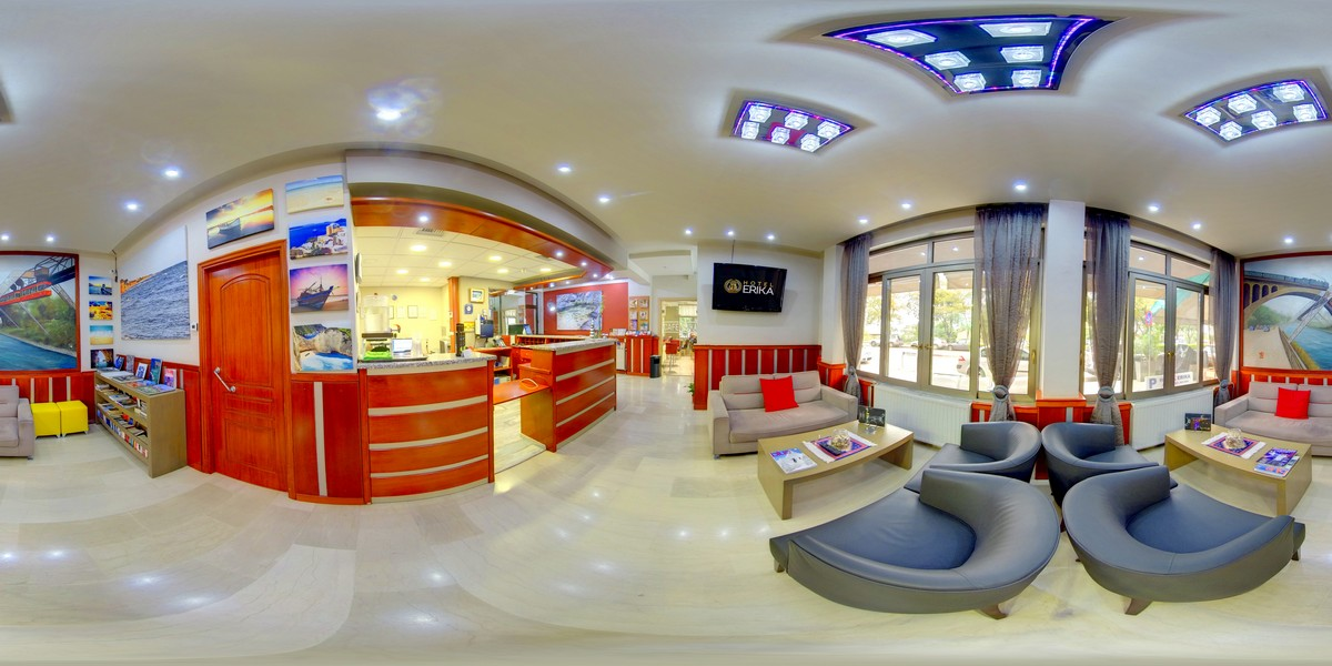 Παραγωγή Παρουσίασης Virtual Tour & Google Street View Photos 360o του Erika City Hotel
